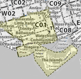Toronto C01 map real estate